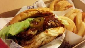 デリバリーのハンバーガー